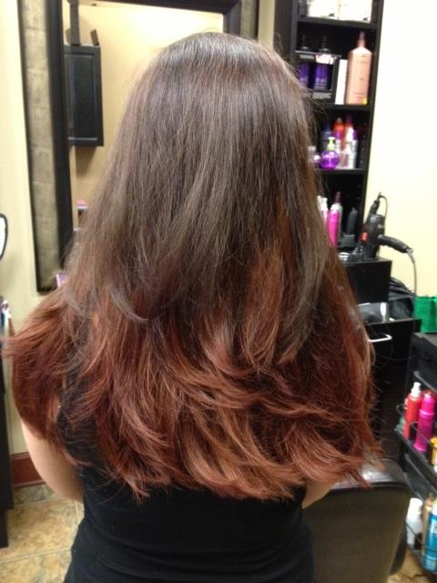 Ombre Dipped Dye Hair Color Denver Hair Stylist