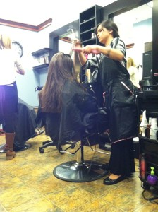hair style blow out